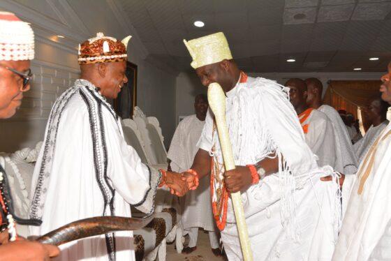 Ooni of Ife, Ooni Adeyeye Ogunwusi Host Eri King, His Majesty, Eze Eri 34th, Eze Aka Ji Ọvọ Igbo
